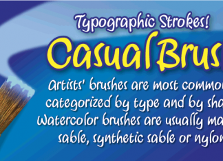 Casual Brush - Befonts - Download free fonts