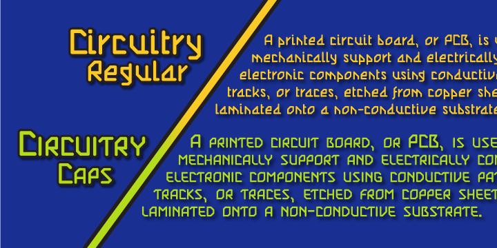 Circuitry Font