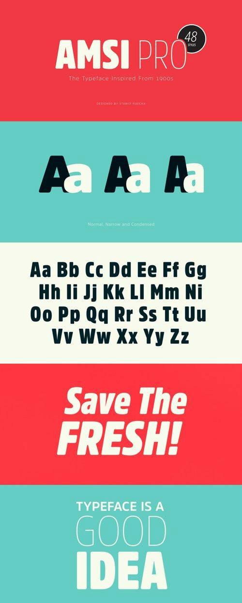 amsi pro font family