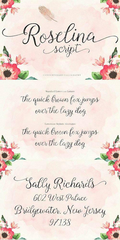 Roselina Script Font - Befonts com