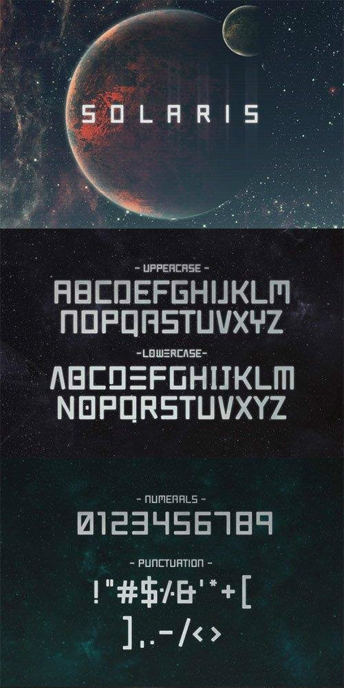 Solaris - Futuristic Font - Befonts com