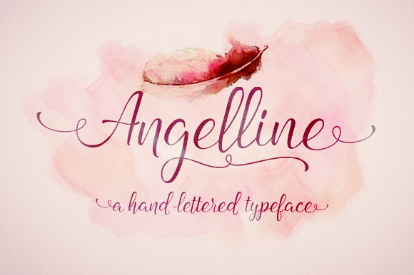 Angelline script befonts.com