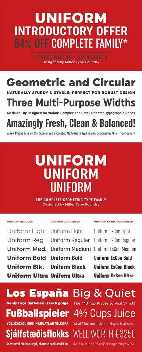 Uniform Font Family - Befonts com