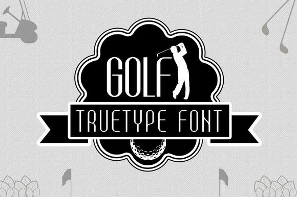 Golf TrueType Font - Befonts.com