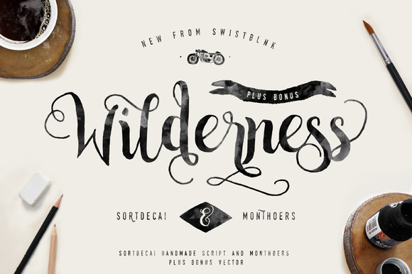 Sortdecai handmade script and bonus befonts