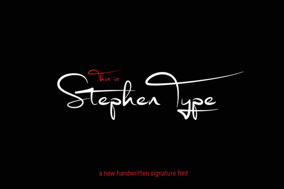 Signature font - Stephen Type - logo - Befonts.com