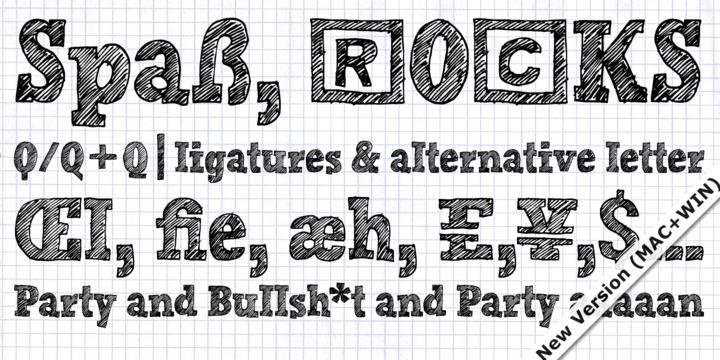 Hand Scribble Sketch Rock - Befonts com