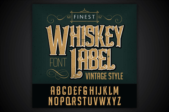 Whiskey Label Font And Sample Label Befonts Com