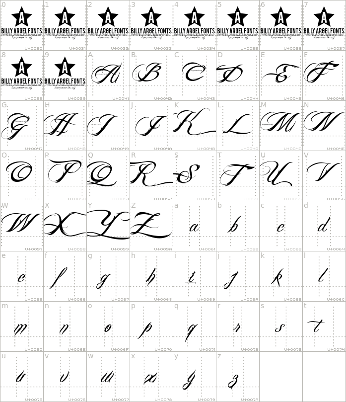 billy-argel-font.regular.character-map-1