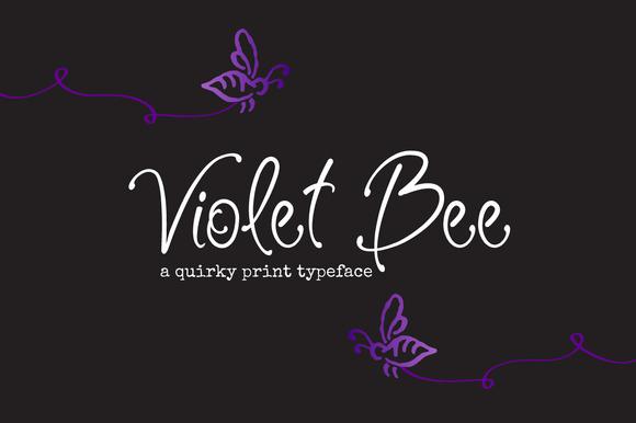 Top Logo Design wedding logo design inspiration : Violet Bee Font - Befonts.com