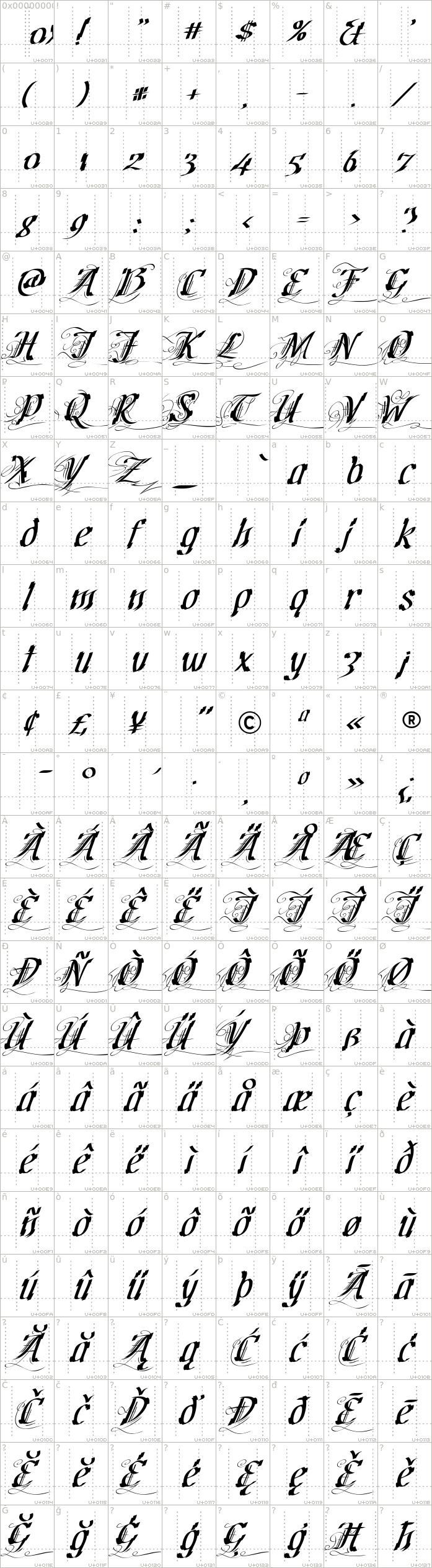cretino.regular.character-map-1