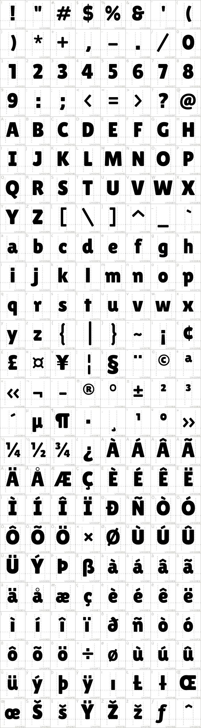 lilita-one.regular.character-map-1
