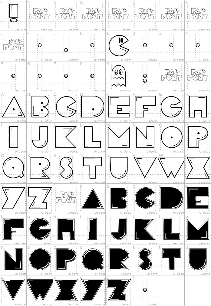 pacfont.regular.character-map-1