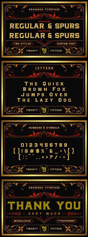 Granada Typefaces Intro Price