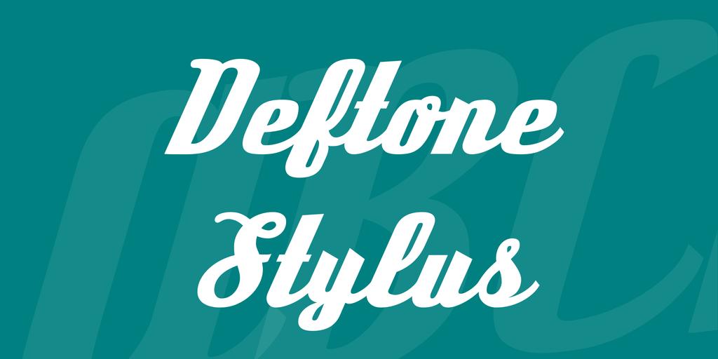 Deftone stylus regular скачать шрифт.