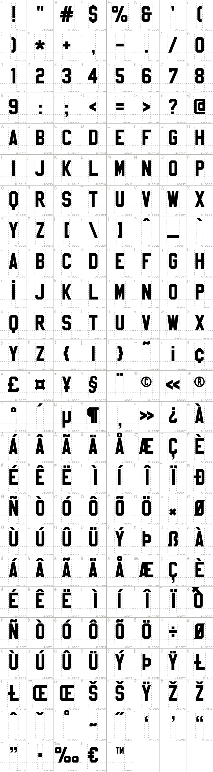 sablon-up.regular.character-map-1