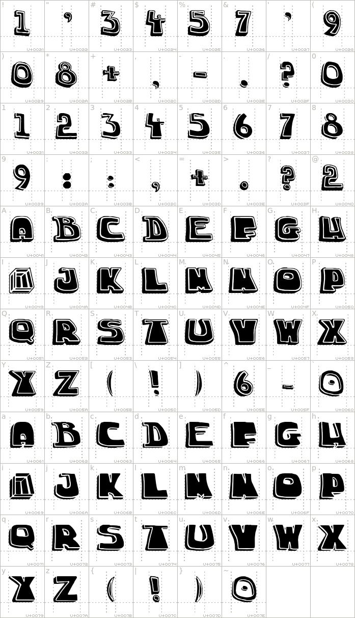 chuck-title-font.regular.character-map-1