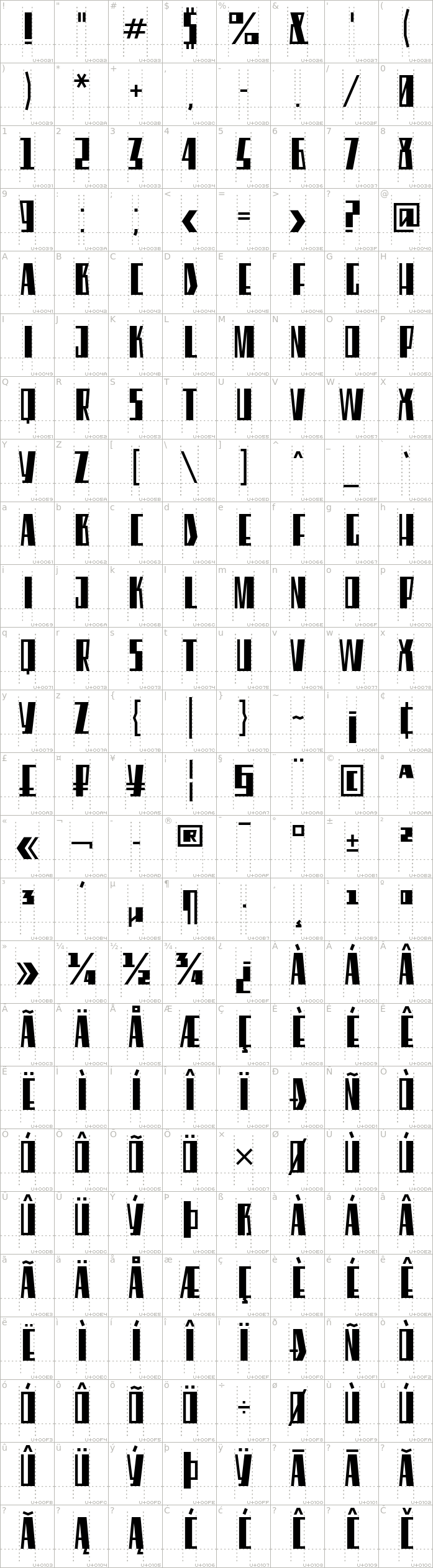 eleventh-square.regular.character-map-1