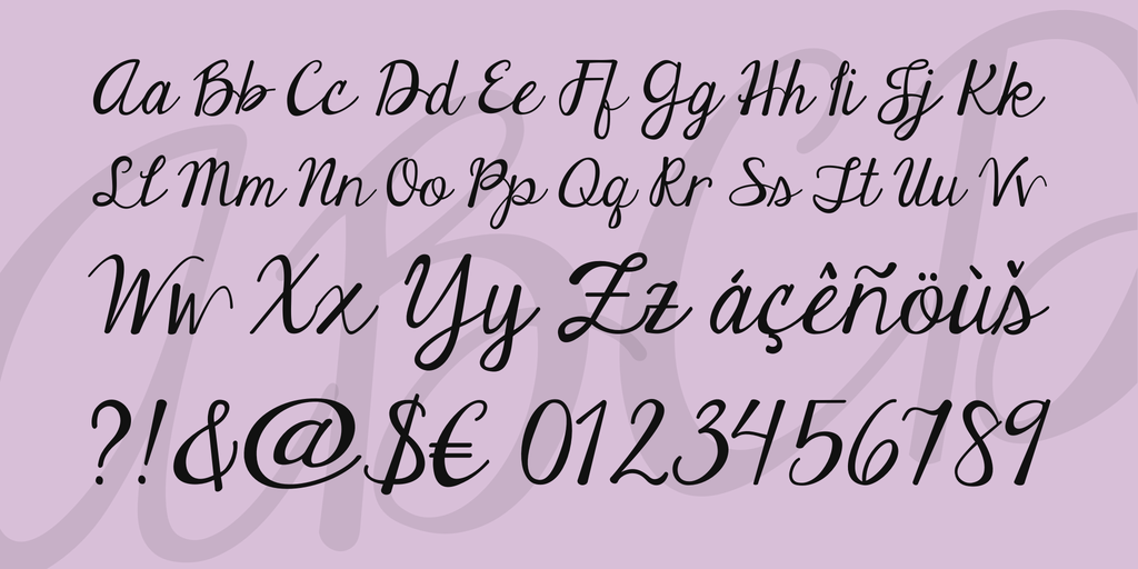 Janda Elegant Handwriting Font 4 Big