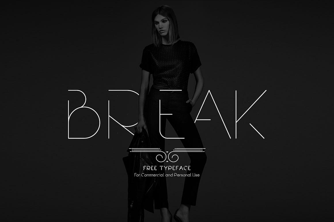 Break font family - Befonts com