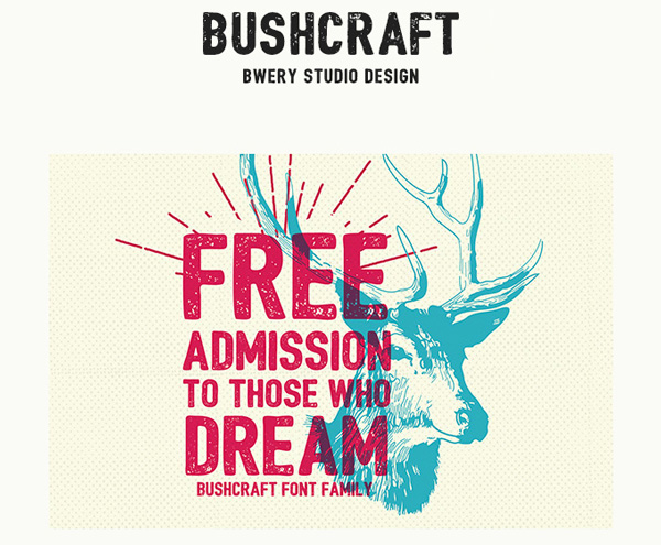 1.Free-Font-Of-The-Day-Bushcraft
