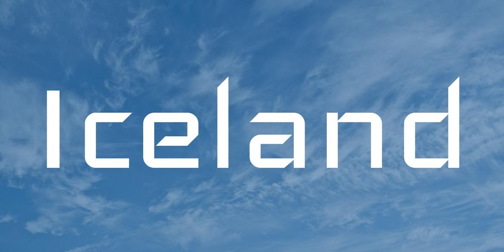 Iceland Font Befontscom