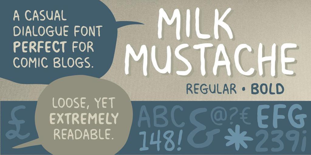 Milk Mustache BB Font Family - Befonts com