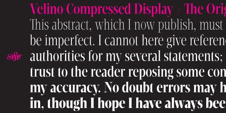 Velino Compressed Display