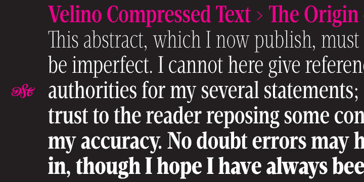 Velino Compressed Text