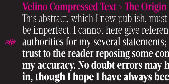 Velino Compressed Text