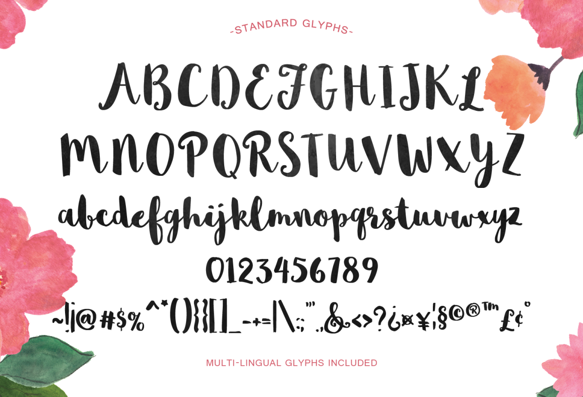 Paint Brush Lettering Font