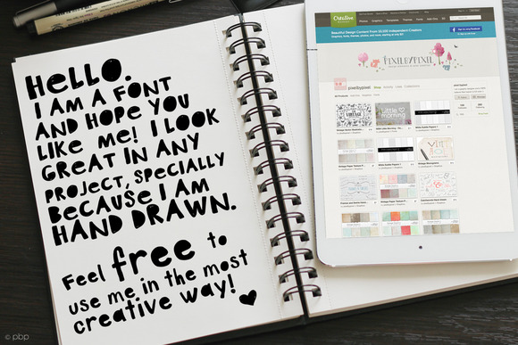 Brand New Artsy Font With A Hand Drawn Finish Looks Perfect On Any Project
