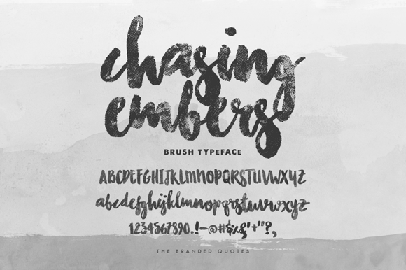 Chasing Embers Font Download