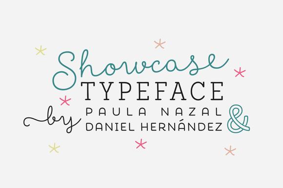 Showcase Family Font