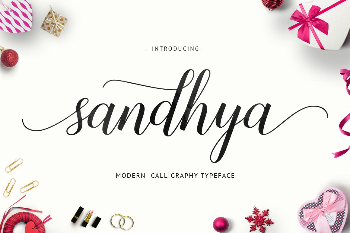 Sandhya script Modern script font