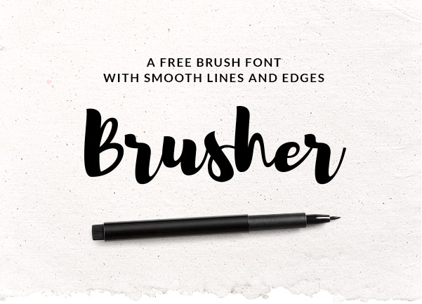 Brusher Font - Befonts com