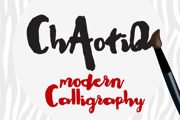 Chaotiq Modern Paint Brush Font - Befonts.com