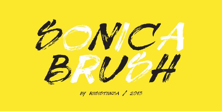 Sonica Brush Font
