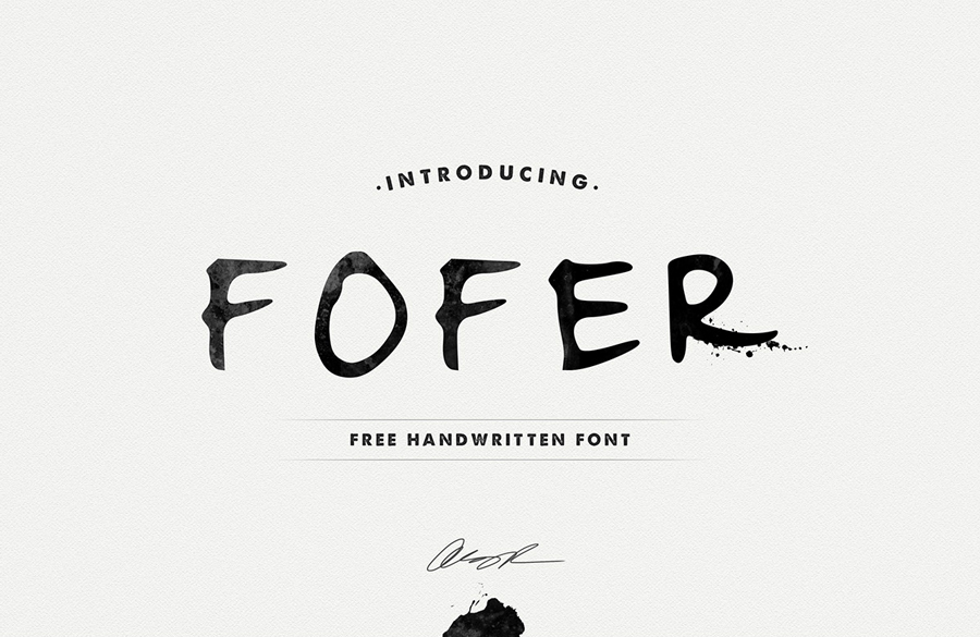 FOFER Handwritten Font Download