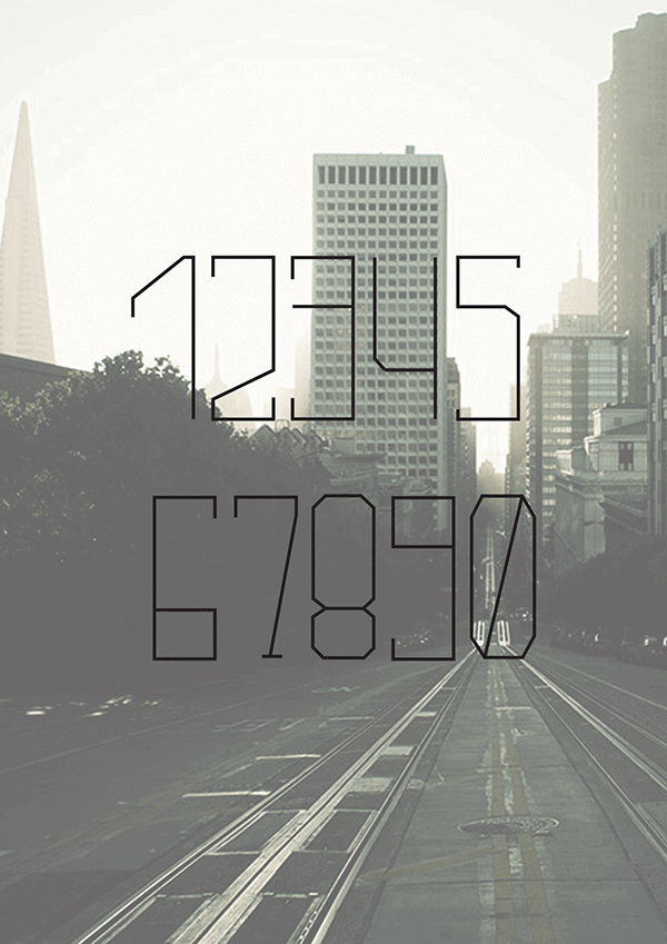 downtown-free-font-numbers