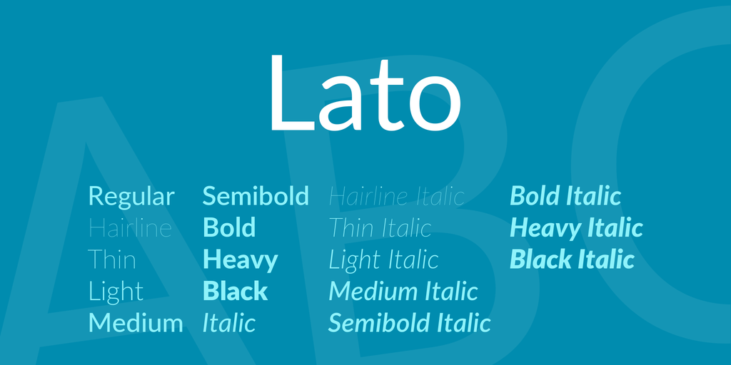 lato bold free font download