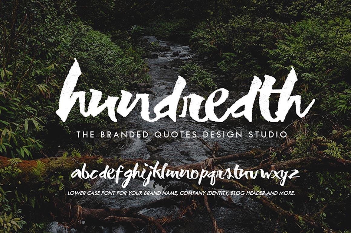 HundredthFree Grunge Font Download