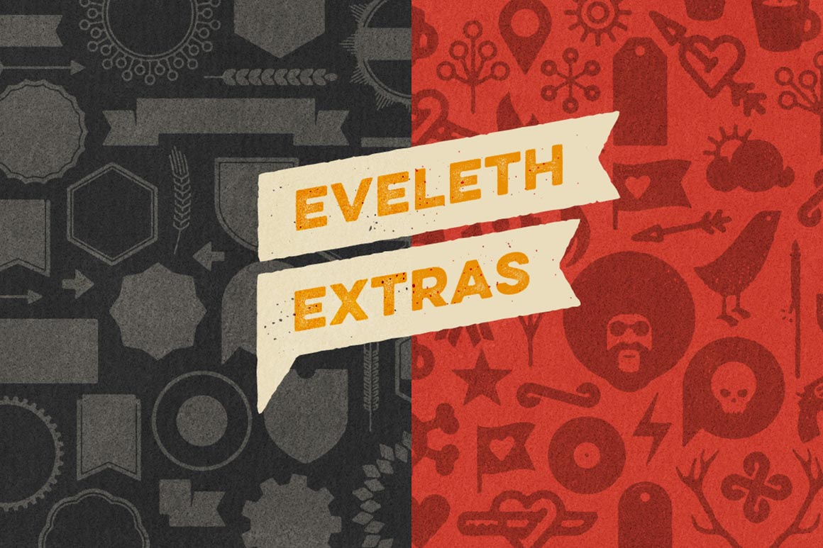 Eveleth Free   Icons & Shapes Font Download