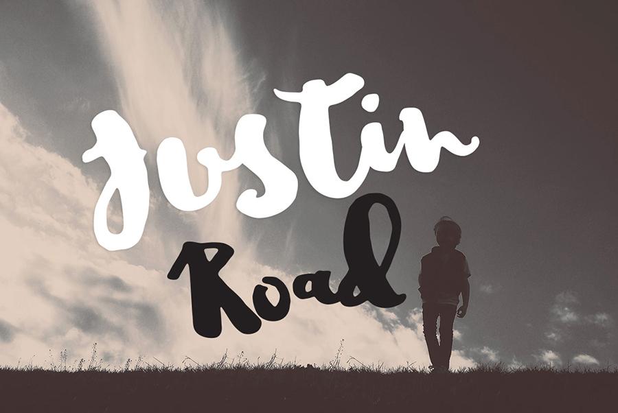 04_justin-road-free-font