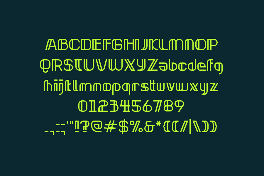 02_neonclipper_free_font