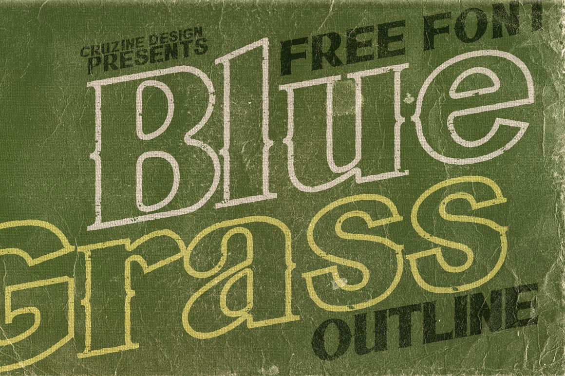 Bluegrass Outline Font Download
