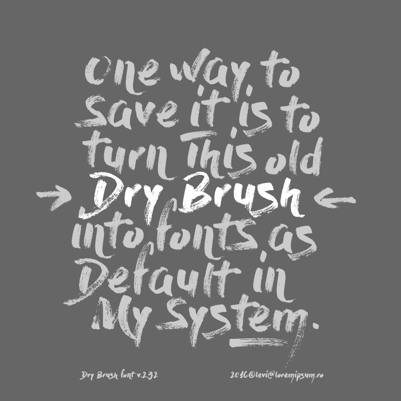 paint brush font