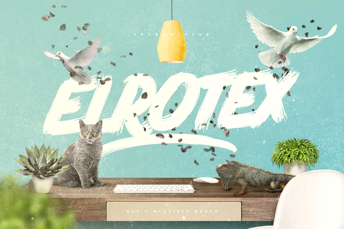 Elrotex Brush Font Download