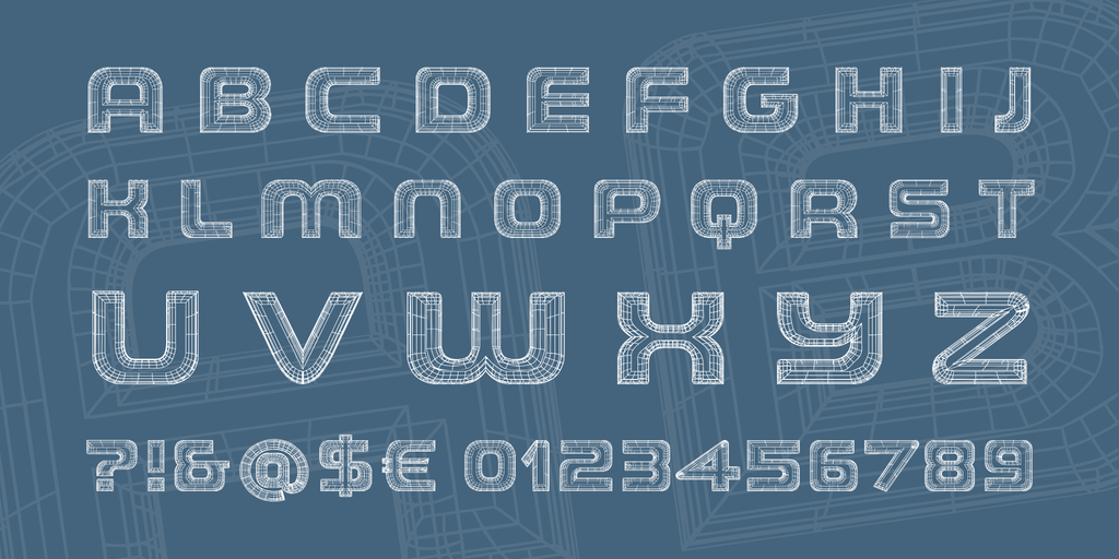 the-wireframe-demo-font-3-big