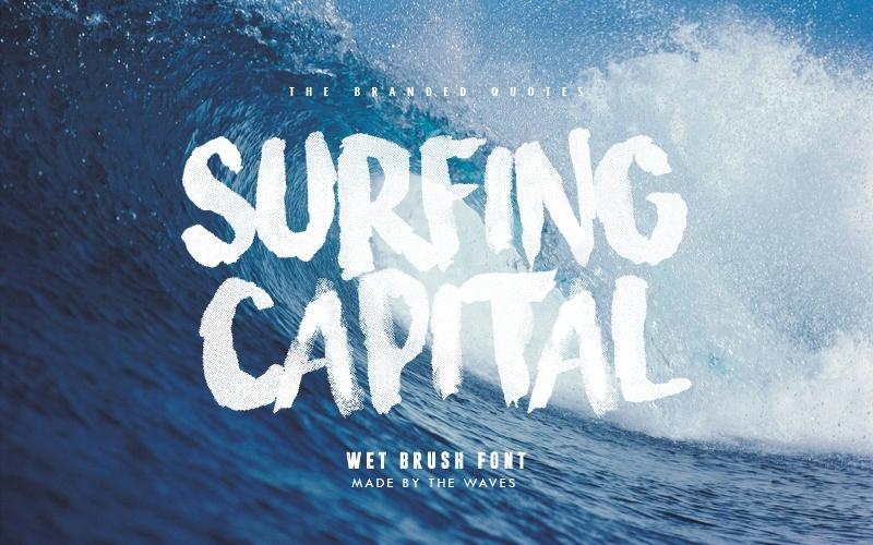 Surfing Capital font - Befonts.com